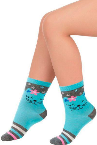 Носки для девочки SAK-14217 серый Charmante голубой, Китай (КНР)