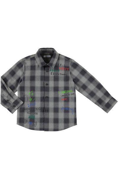 Купить Рубашка, Mayoral, Серый, Хлопок-100%, Мужской