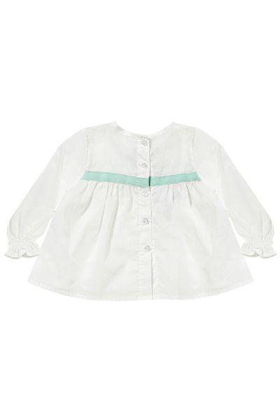 блузка gaialuna для девочки, белая