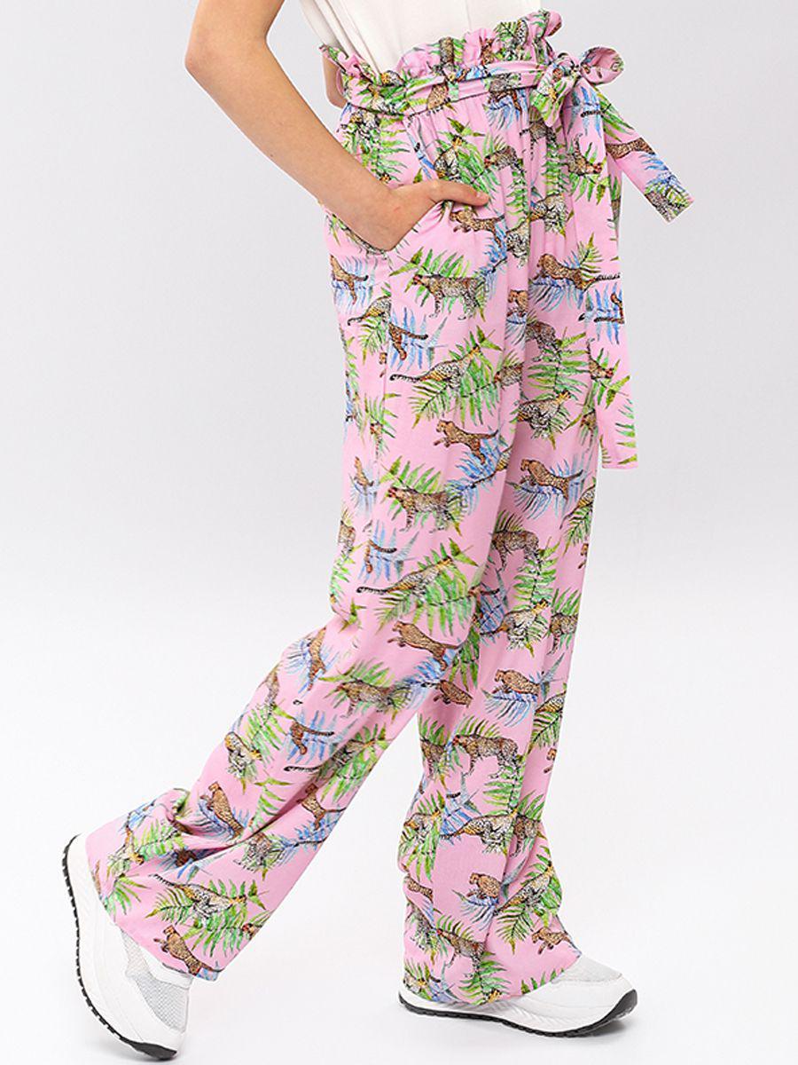 брюки noble people для девочки, розовые