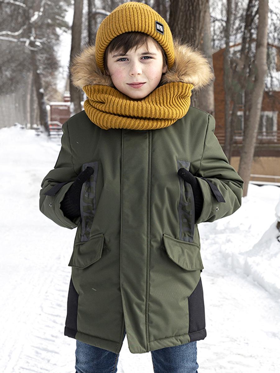 куртка nikastyle для мальчика, коричневая