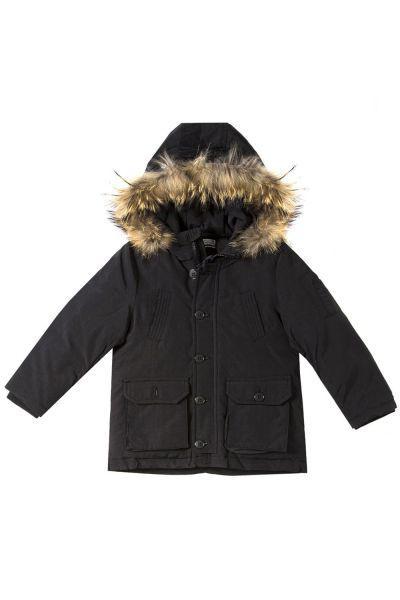 куртка y-clu' для мальчика, черная