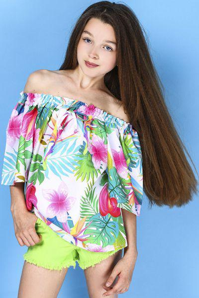 Купить Блуза, To Be Too, Разноцветный, Полиэстер-97%, Эластан-3%, Женский