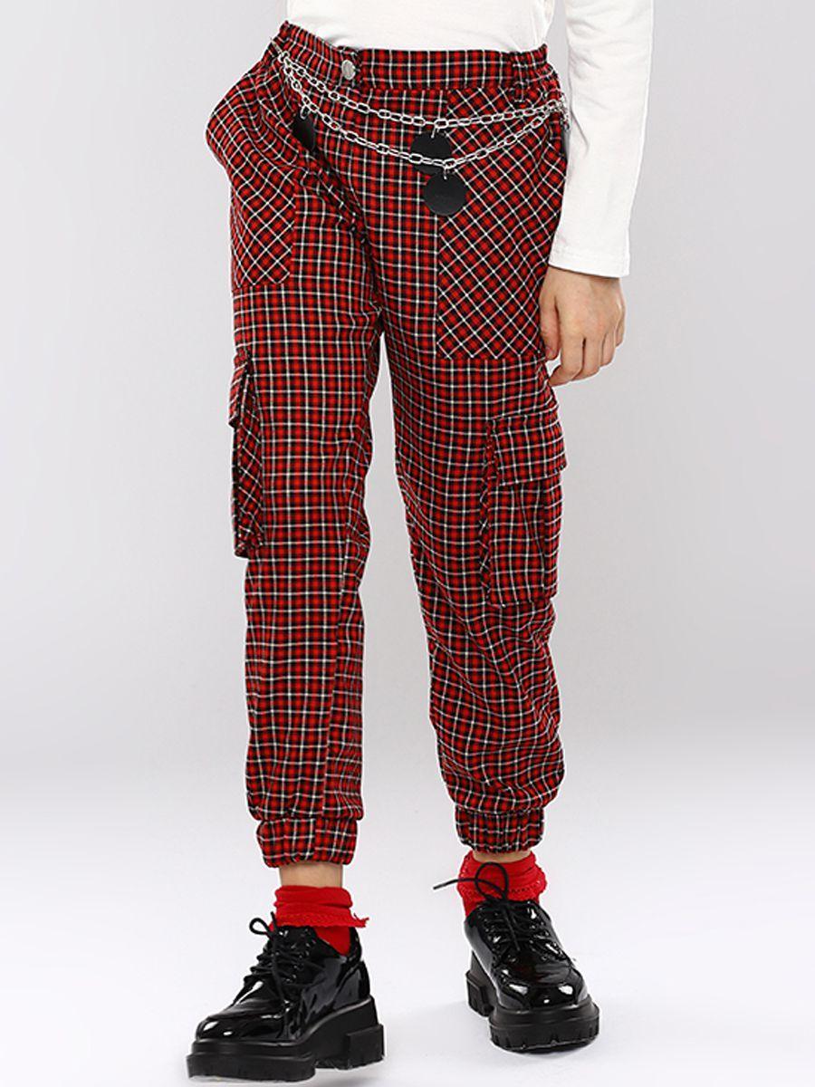 брюки y-clu' для девочки, красные