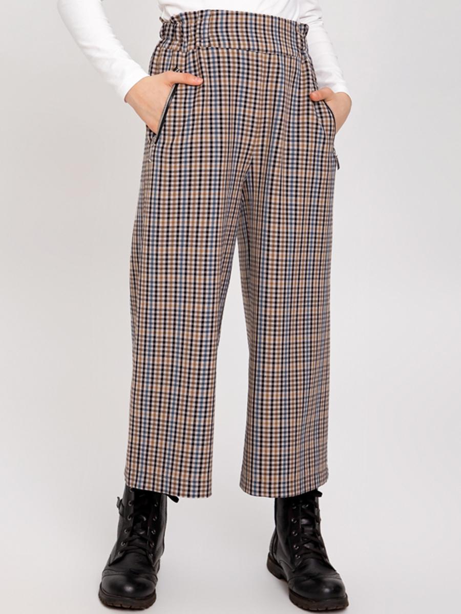 брюки кюлоты noble people для девочки, бежевые