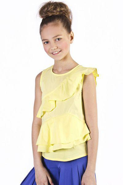 Купить Блуза, To Be Too, Желтый, Хлопок-65%, Полиамид-30%, Эластан-5%, Женский