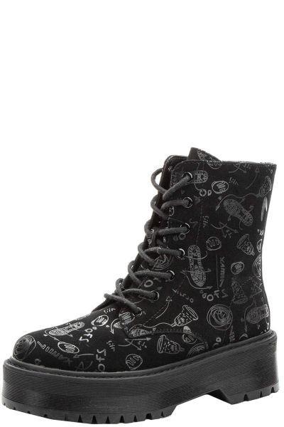 Купить Ботинки, Keddo, Черный, Нубук искусственный-100%, Женский