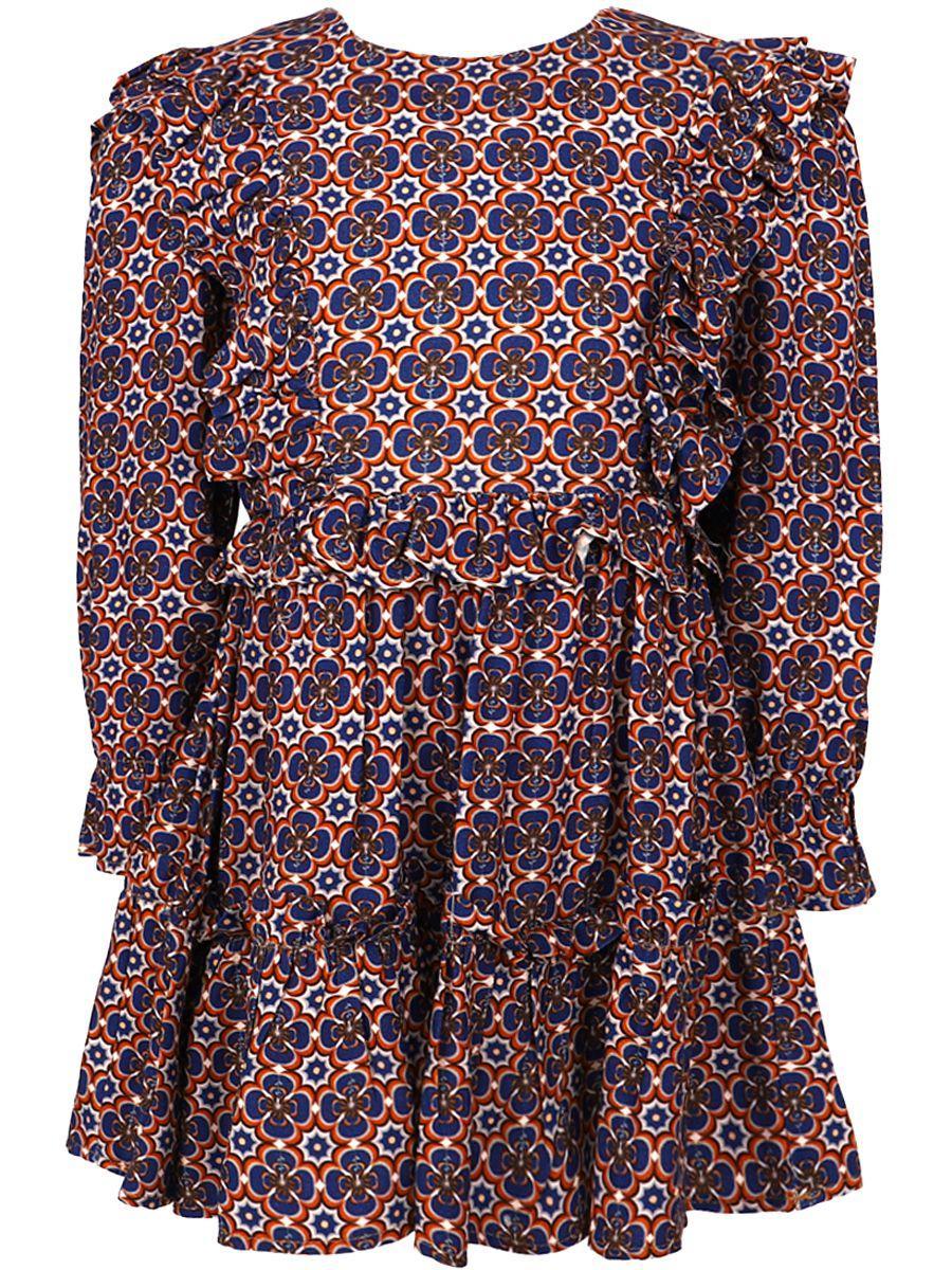платье y-clu' для девочки, разноцветное