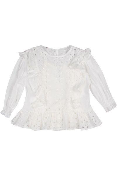 блузка manila grace для девочки, белая