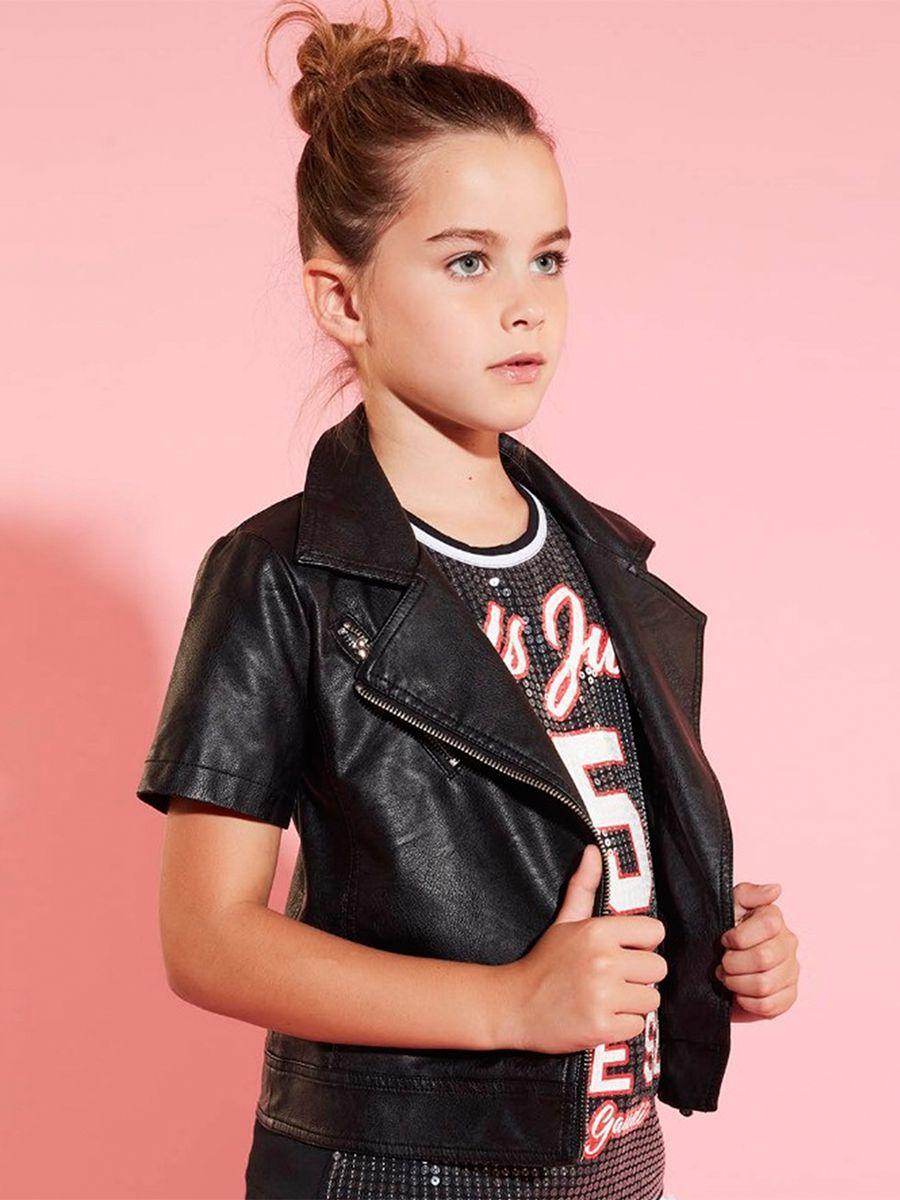 куртка gaudi для девочки, черная