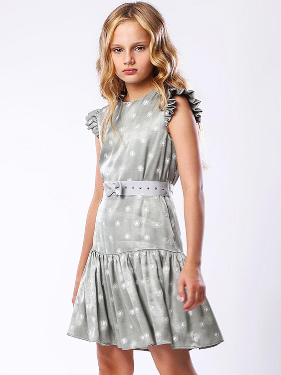 платье noble people для девочки, зеленое